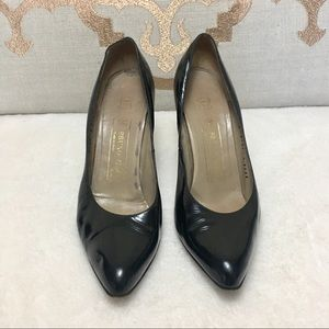 Bruno Magli patent leather black heels pumps 7.5 a